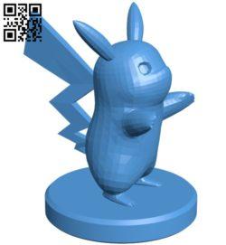 Pawn Pikachu – pokemon B006771 file stl free download 3D Model for CNC and 3d printer