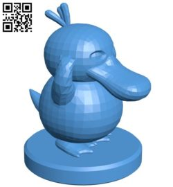 Pawn Psyduck – pokemon B006772 file stl free download 3D Model for CNC and 3d printer