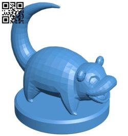 Pawn Slowpoke – pokemon B006773 file stl free download 3D Model for CNC and 3d printer