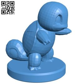 Pawn Squirtle – pokemon B006774 file stl free download 3D Model for CNC and 3d printer