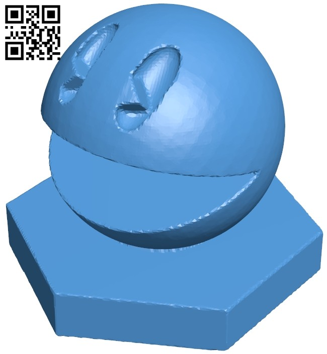 Pawn - pacman chess B007075 file stl free download 3D Model for CNC and 3d printer