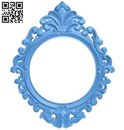 Picture frame or mirror A004593 download free stl files 3d model for CNC wood carving