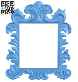 Picture frame or mirror A004594 download free stl files 3d model for CNC wood carving