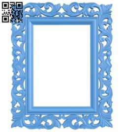 Picture frame or mirror A004595 download free stl files 3d model for CNC wood carving