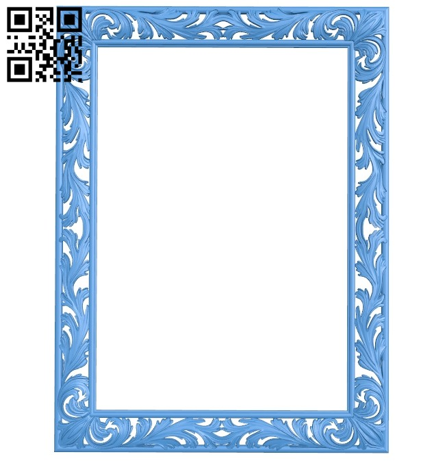 Picture frame or mirror A004667 download free stl files 3d model for CNC wood carving