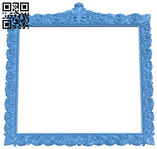 Picture frame or mirror A004668 download free stl files 3d model for CNC wood carving