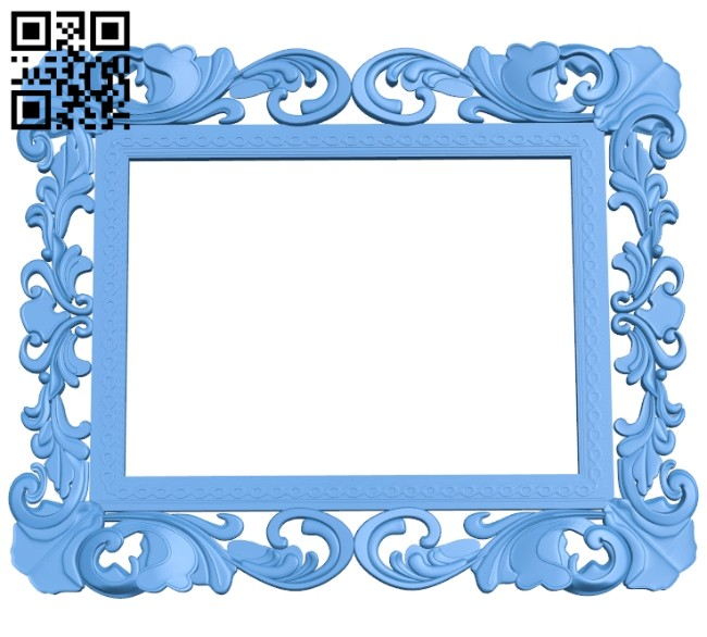 Picture frame or mirror A004730 download free stl files 3d model for CNC wood carving