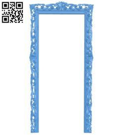 Picture frame or mirror A004731 download free stl files 3d model for CNC wood carving