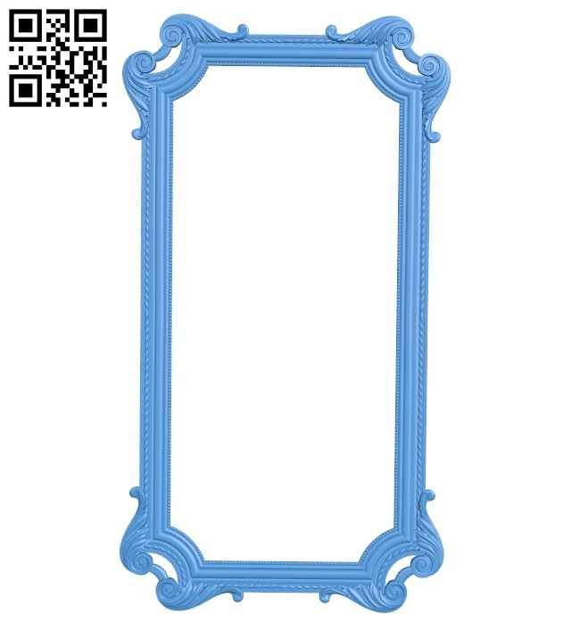 Picture frame or mirror A004732 download free stl files 3d model for CNC wood carving