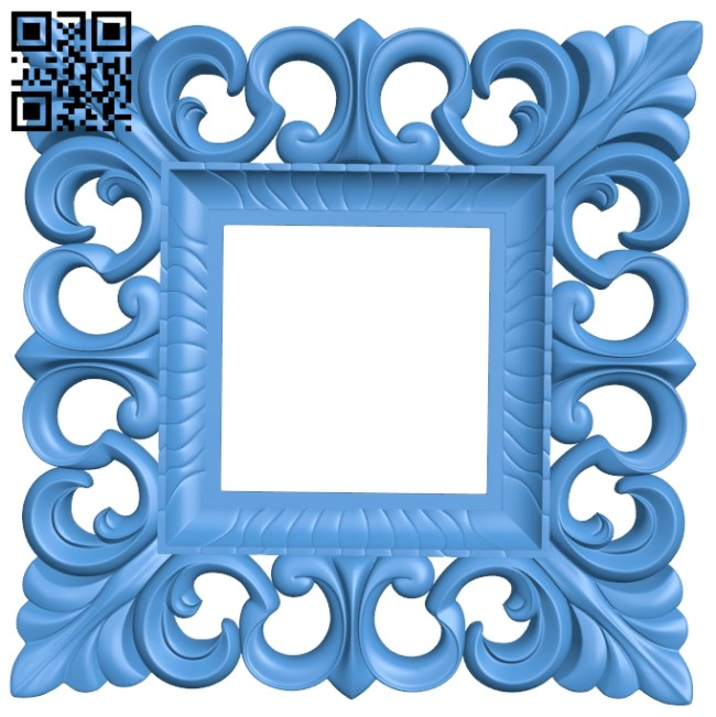 Picture square frame or mirror A004734 download free stl files 3d model for CNC wood carving