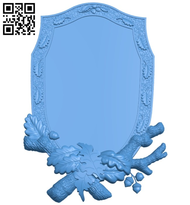 Picture square frame or mirrorA004750 download free stl files 3d model for CNC wood carving