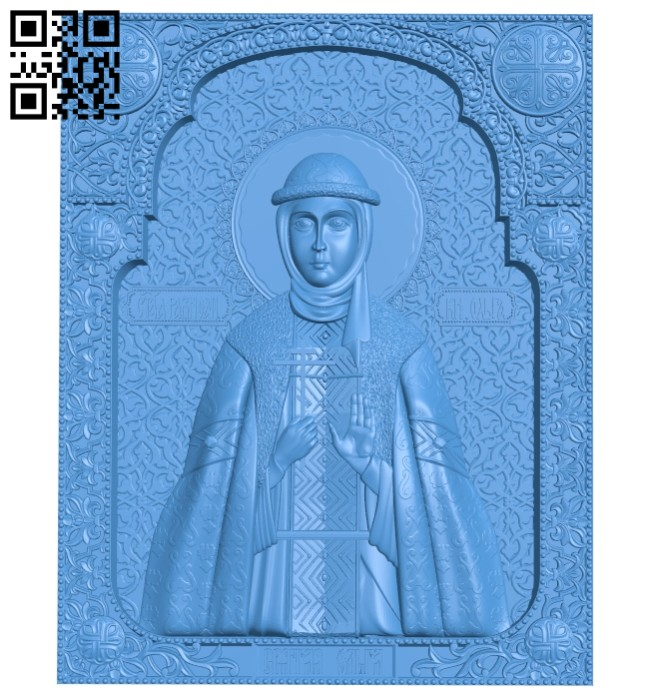 Pictures of Icon Olga A004697 download free stl files 3d model for CNC wood carving