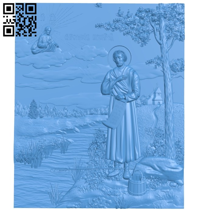 Pictures of Icon Saint Simeon A004698 download free stl files 3d model for CNC wood carving
