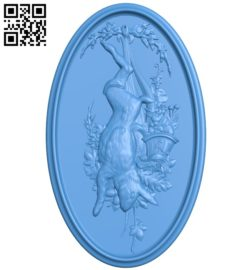 Pictures of hunting rabbits A004690 download free stl files 3d model for CNC wood carving
