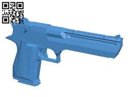 Pistol – gun B006902 file stl free download 3D Model for CNC and 3d printer