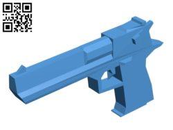 Pistol – gun B006903 file stl free download 3D Model for CNC and 3d printer