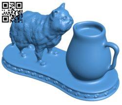 Porcelain Cat B006788 file stl free download 3D Model for CNC and 3d printer