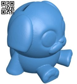 Puppy bank hollow B006672 file stl free download 3D Model for CNC and 3d printer