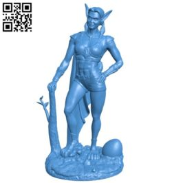 Rabbit girl statue B006687 file stl free download 3D Model for CNC and 3d printer