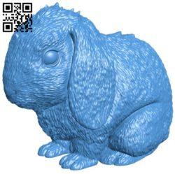 Realistic rabbit B006809 file stl free download 3D Model for CNC and 3d printer