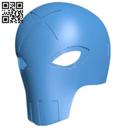 Red X Mask B006936 file stl free download 3D Model for CNC and 3d printer