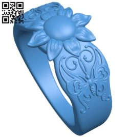 Ring butterfly B006830 file stl free download 3D Model for CNC and 3d printer