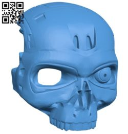 Robot T-800 mask B006685 file stl free download 3D Model for CNC and 3d printer