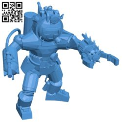 Robot panzer B006846 file stl free download 3D Model for CNC and 3d printer