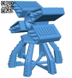 Rocket launcher B006658 file stl free download 3D Model for CNC and 3d printer