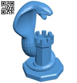 Rook Arbok – pokemon B006778 file stl free download 3D Model for CNC and 3d printer