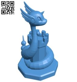 Rook Dragonair – pokemon B006779 file stl free download 3D Model for CNC and 3d printer