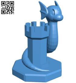 Rook Dratini – pokemon B006780 file stl free download 3D Model for CNC and 3d printer