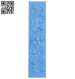 Rose door pattern design A004745 download free stl files 3d model for CNC wood carving