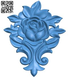 Rose pattern A004656 download free stl files 3d model for CNC wood carving