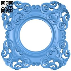 Round frame pattern A004572 download free stl files 3d model for CNC wood carving
