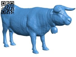 Scanned cow B006812 file stl free download 3D Model for CNC and 3d printer