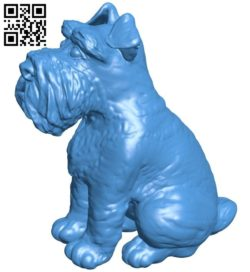Schnauzer dog B006814 file stl free download 3D Model for CNC and 3d printer