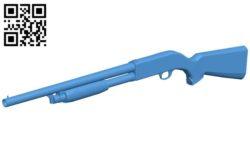 Shotgun – gun B006694 file stl free download 3D Model for CNC and 3d printer