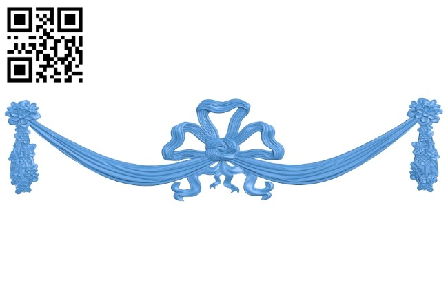 Silk ribbon pattern A004724 download free stl files 3d model for CNC wood carving