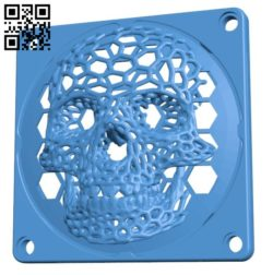 Skull Fan Cover B006806 file stl free download 3D Model for CNC and 3d printer