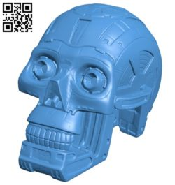Skull robot T800 B007081 file stl free download 3D Model for CNC and 3d printer