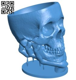 Skull shape cup B006938 file stl free download 3D Model for CNC and 3d printer