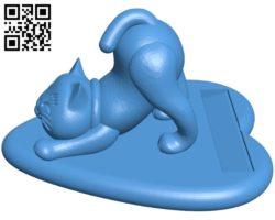 Smartphone rack with cat shape B006937 file stl free download 3D Model for CNC and 3d printer