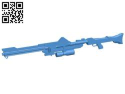 Sniper rifles B007100 file stl free download 3D Model for CNC and 3d printer