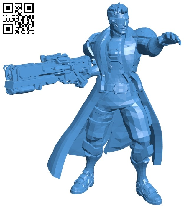 Soldier 76 man B006914 file stl free download 3D Model for CNC and 3d printer