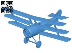 Sopwith triplane – planes B006877 file stl free download 3D Model for CNC and 3d printer