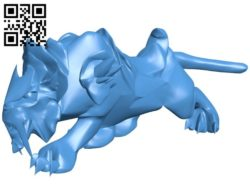 Spectral Tiger B006701 file stl free download 3D Model for CNC and 3d printer