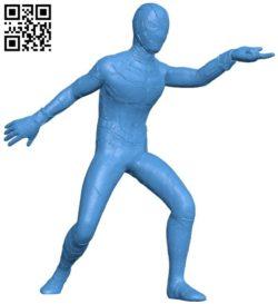 Spider Man Pose B006768 file stl free download 3D Model for CNC and 3d printer
