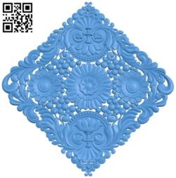Square decor pattern A004691 download free stl files 3d model for CNC wood carving