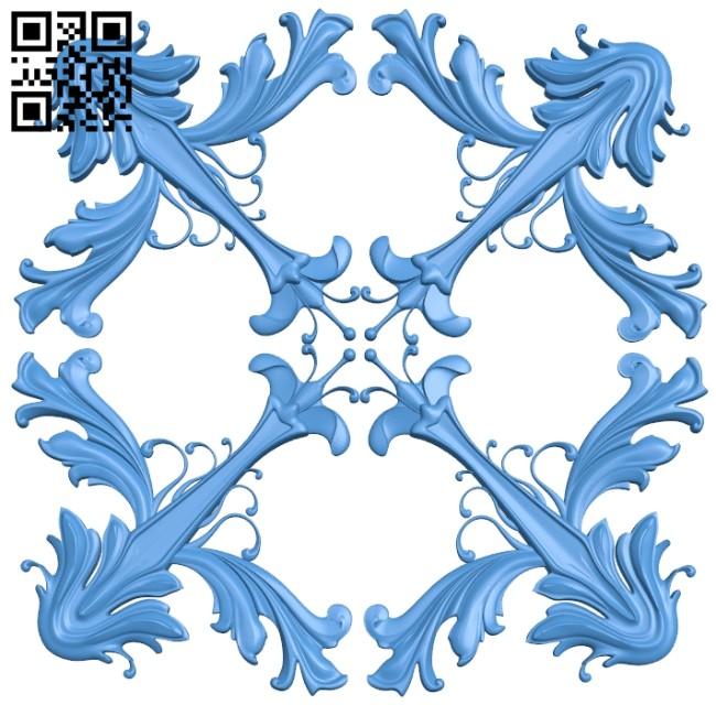 Square pattern dekor A004664 download free stl files 3d model for CNC wood carving